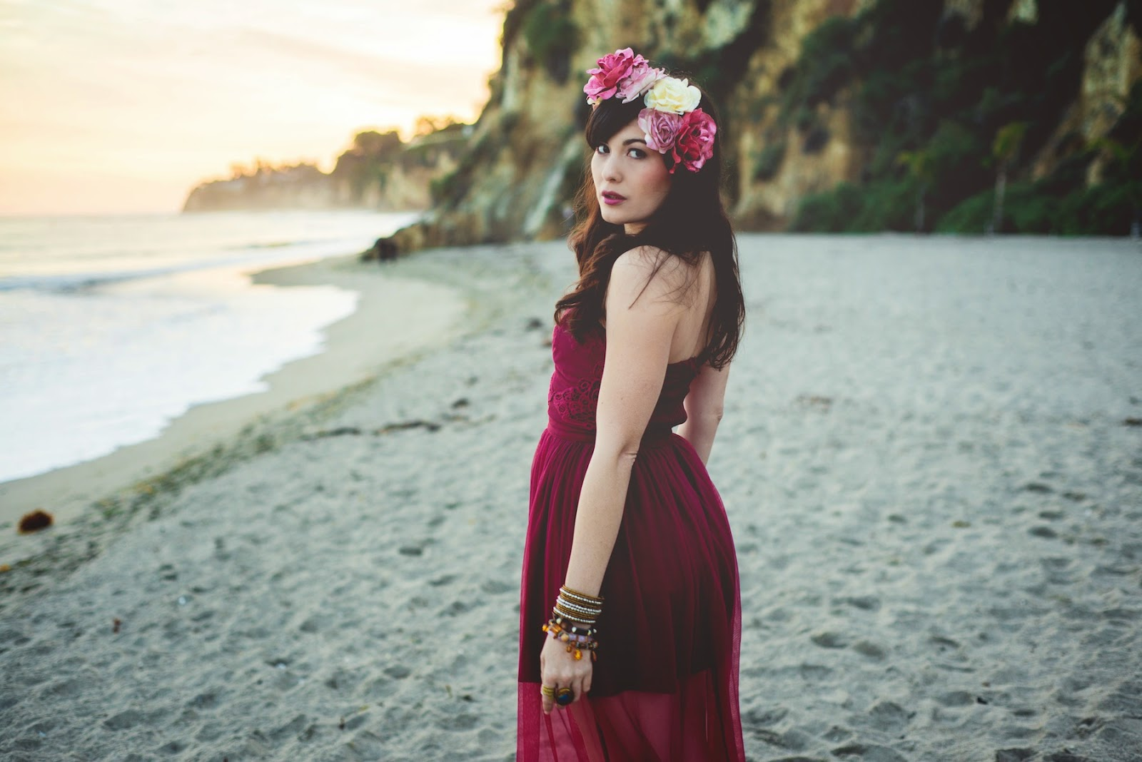 Celeste Thorson Fashion And Lifestyle Boho Beach Flower Crown In