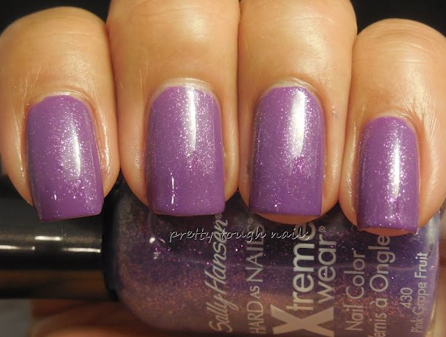 Bettina Purple With Sally Hansen Pink Grape-Fruit