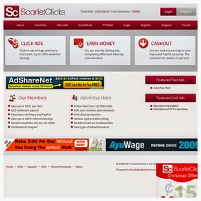 Get Paid To Click with ScarletClicks