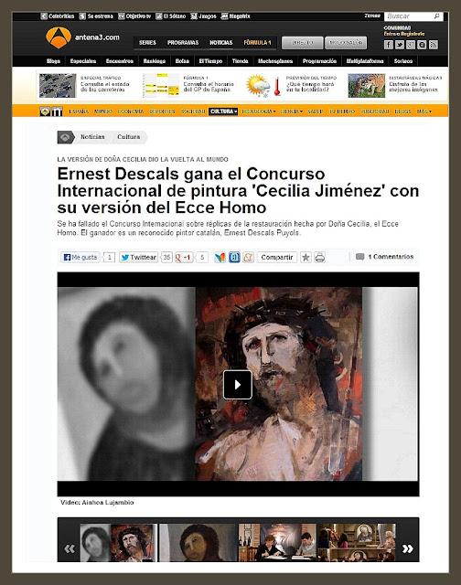 CONCURSO-PINTURA-ECCE HOMO-CECILIA GIMENEZ-NOTICIAS-ANTENA3-PINTOR-ERNEST DESCALS-
