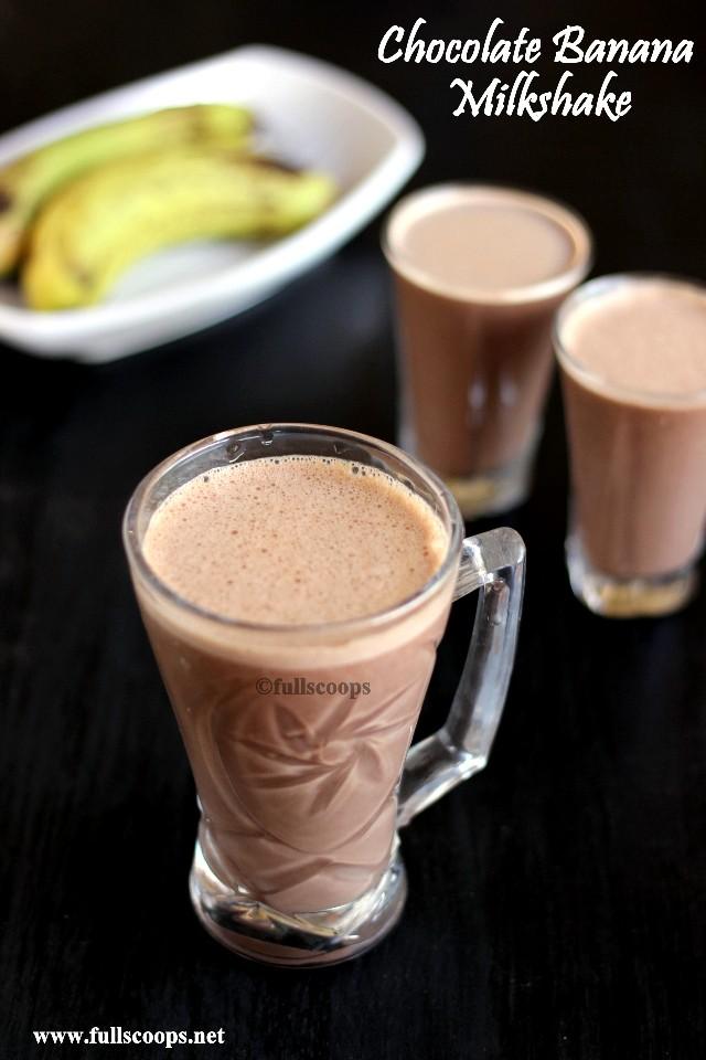 Full Scoops: Chocolate Banana Milkshake   Milkshake Recipes