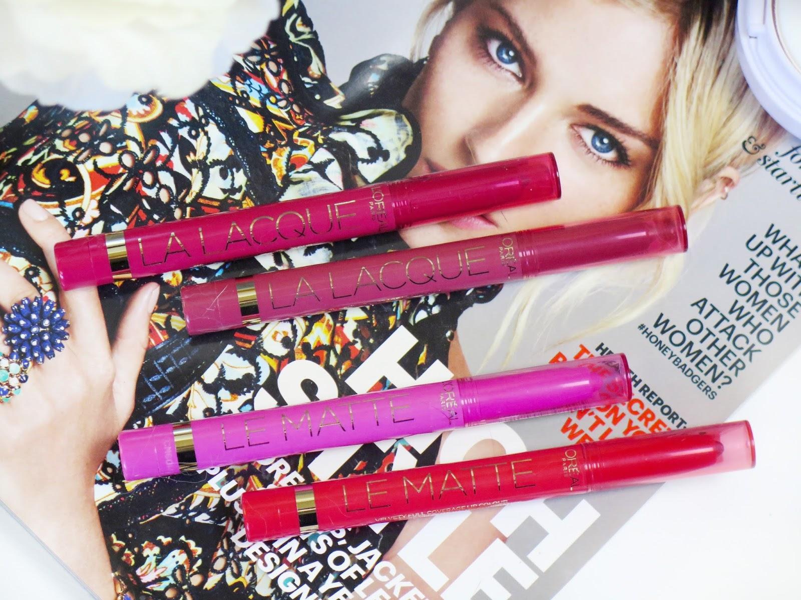 Review | L'oreal Le Matte & La Lacque Lip Colour Pencils | Bold Vibrant Shades In Two Finishes | labellesirene.ca