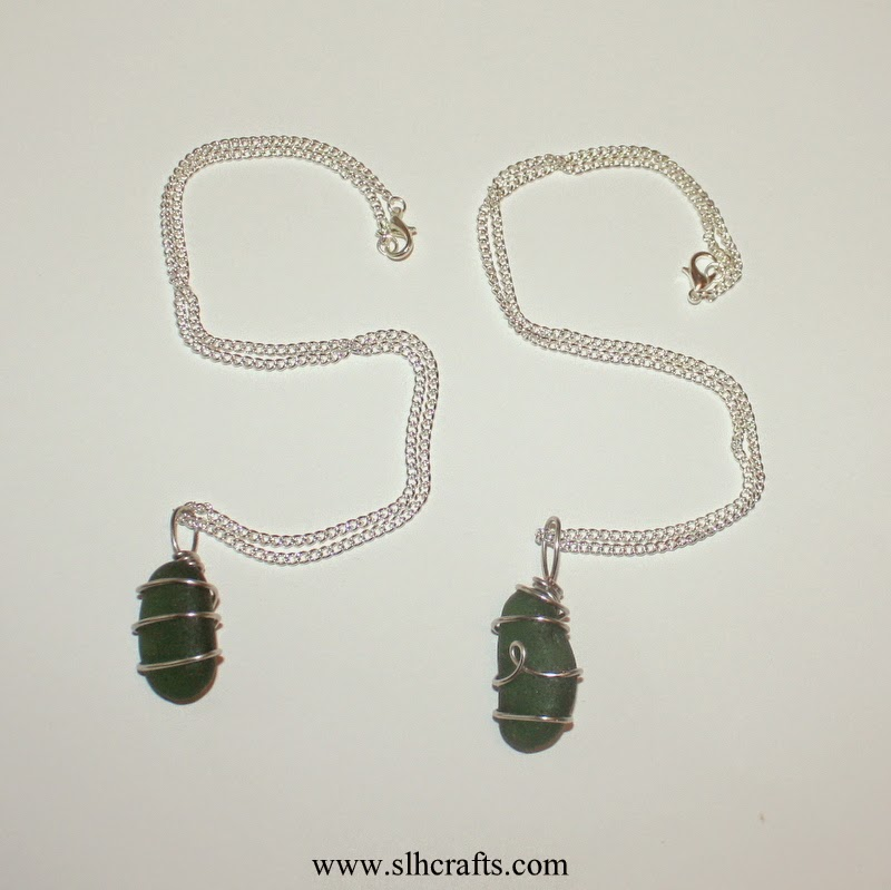 sea glass necklaces jewellery