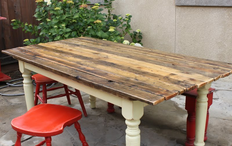 Farm table to plank table DIY redouxinteriors.com
