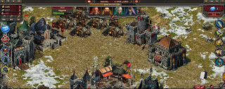 This is the Stormfall Age of War Main Screen, where you construct and build buildings
