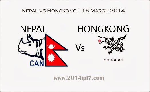Sun, 16 Mar 2014 - Hong Kong vs Nepal ICC World Twenty20 2014, 2nd