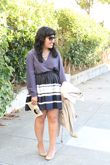 Outfit Styled with LE TOTE Top and Necklace