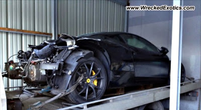 You Can Barely Tell This Is a Ferrari 458 - Severe Crash Damage