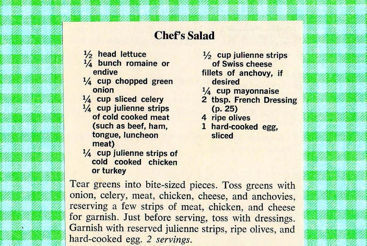 Chef's Salad (quick recipe)