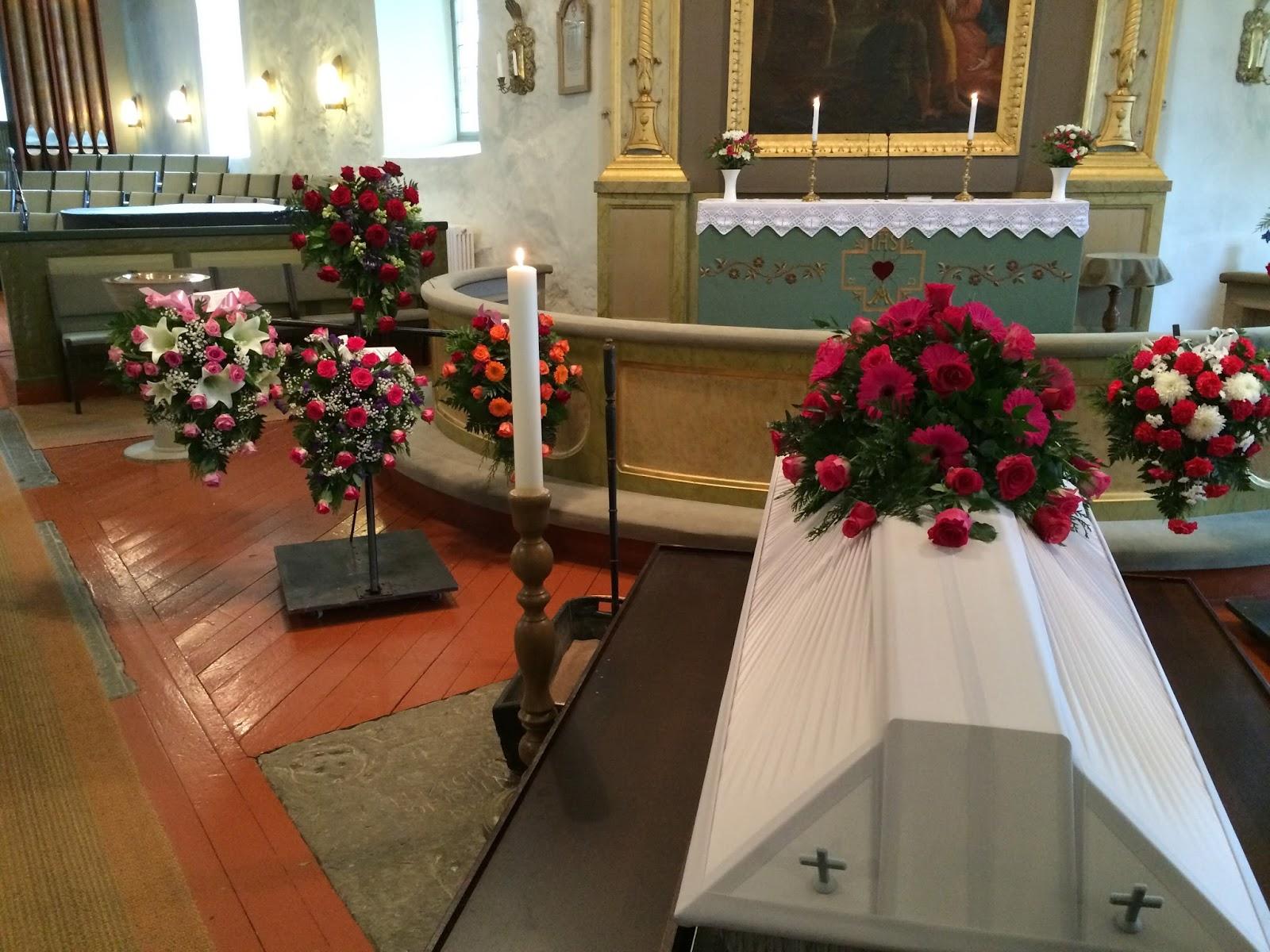 begravning hur långt efter