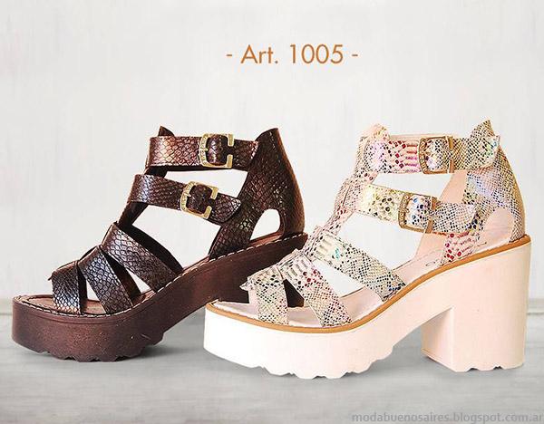 Sandalias primavera  verano 2015 Anca & Co. Moda primavera verano 2015 calzado femenino.