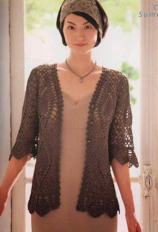 Free Crochet Pattern For Ladies Gilet : Croch? TricO - Graficos: Casaquinho em Croch?