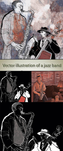 Vector Stock - Illustration of a Jazz Band