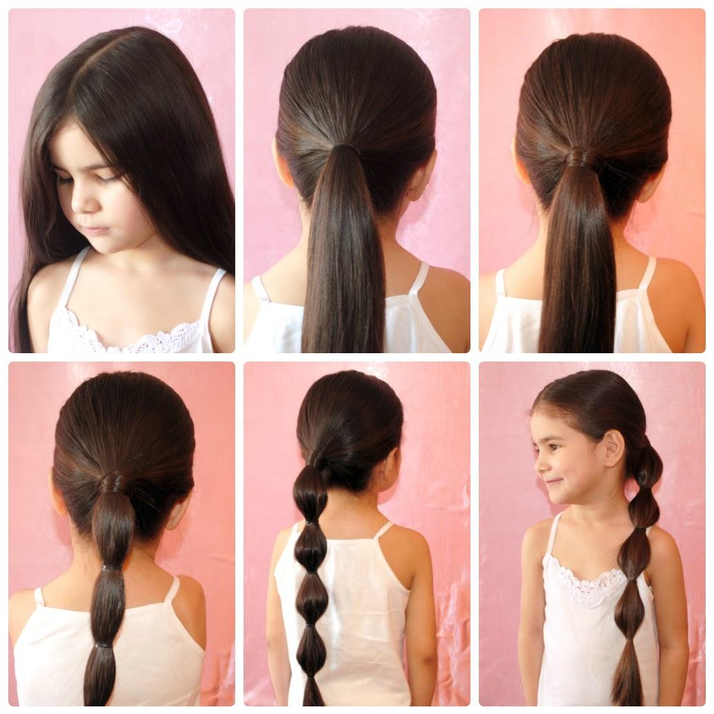 Красивая прическа для волос в школу