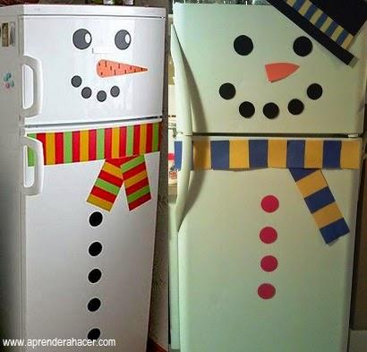 La casita de villar c mo decorar tu nevera en navidad - Decoracion de neveras ...