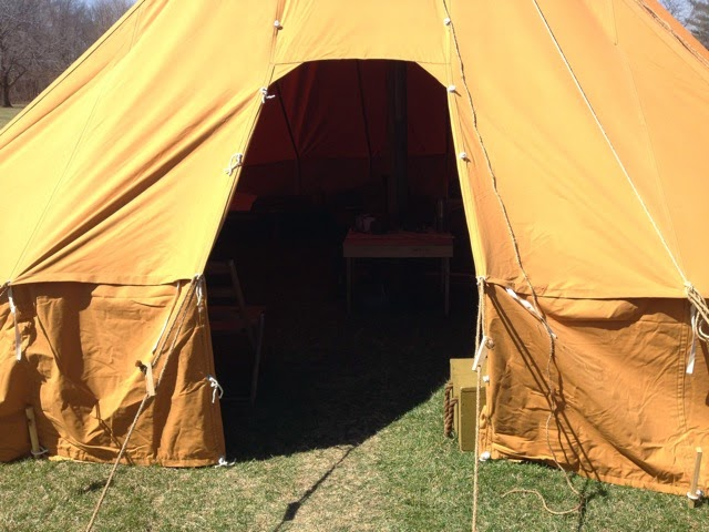 1916 Pyramidal Tent AEF u2013 $2800. Wooden Pole and stake kit $490. Splicer for center pole $50 & Armbruster Manufacturing Co. | World War One Tent Pricing