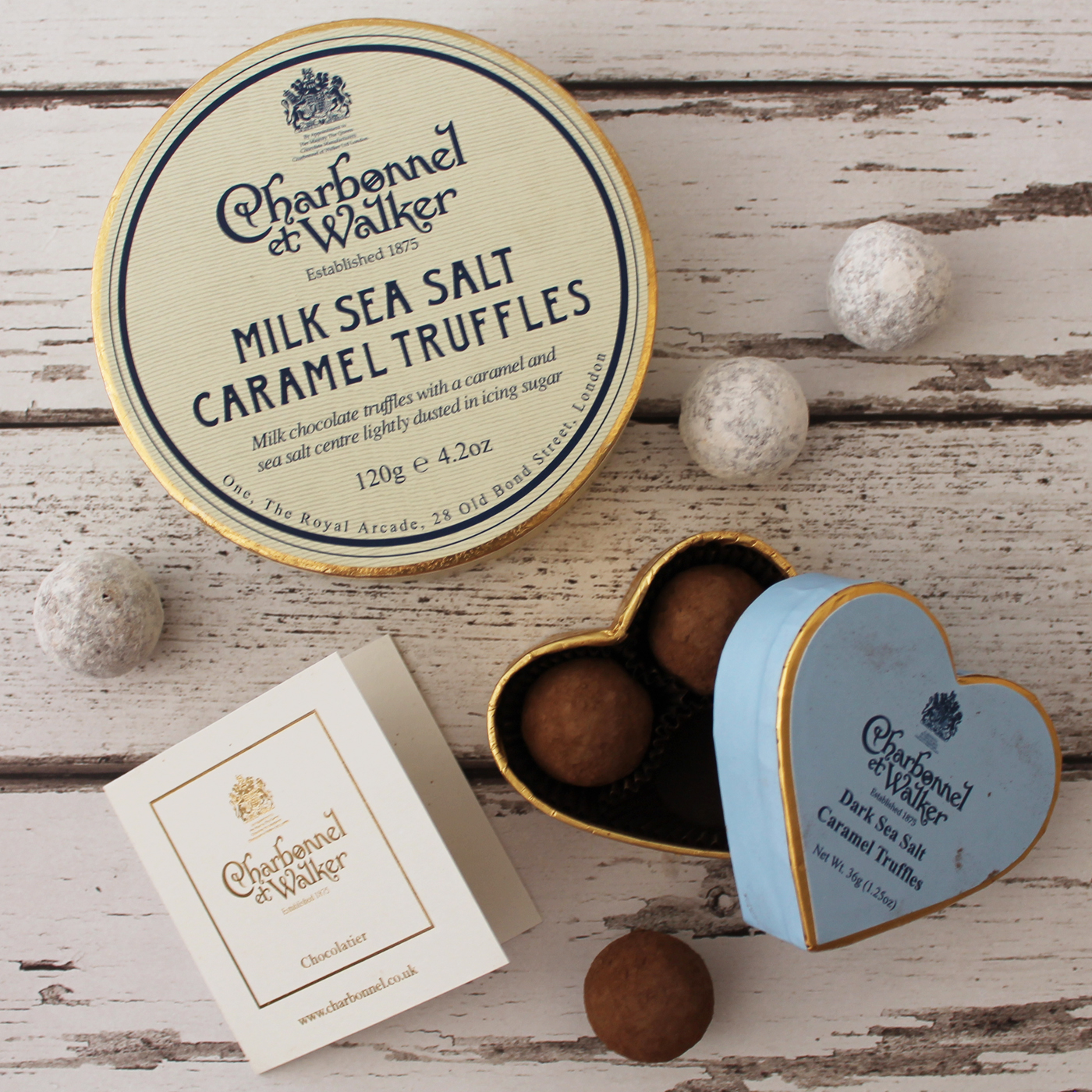 Charbonnel et Walker, Charbonnel et Walker milk sea salt caramel truffles, Charbonnel et Walker dark sea salt caramel truffles