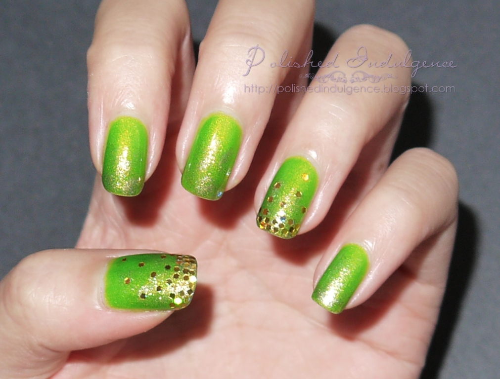Polished Indulgence Nail Art Wednesday Mountain Dew Effervescence