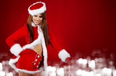 Mujer Vestida de Santa Claus