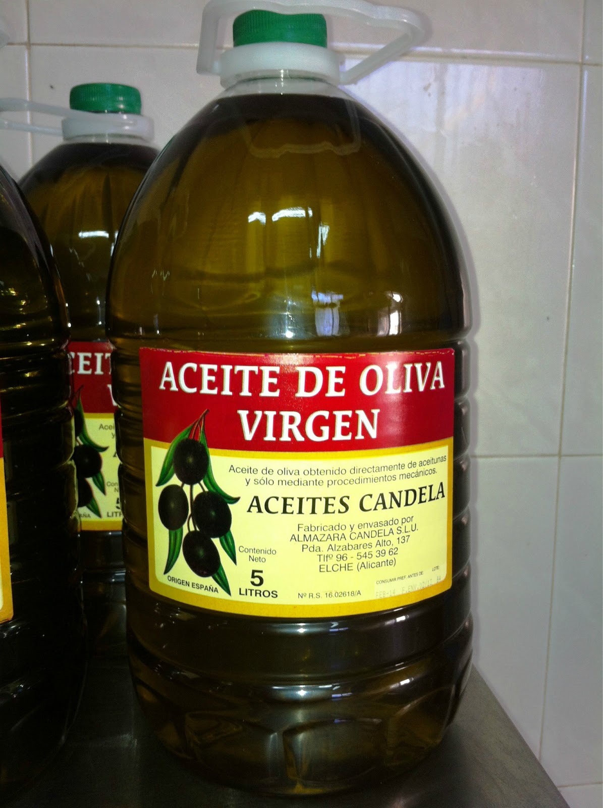 Virgin olive oil.