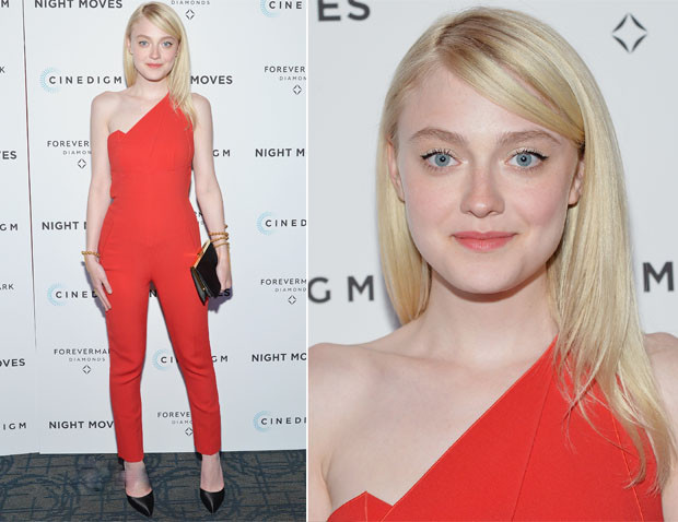 Dakota Fanning attended the 'Night Moves' premiere held at Sunshine Landmark on Tuesday (May 20) in New York City.