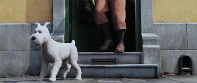 o cachorro Milu no filme As Aventuras de Tintim, de Steven Spielberg e Peter Jackson
