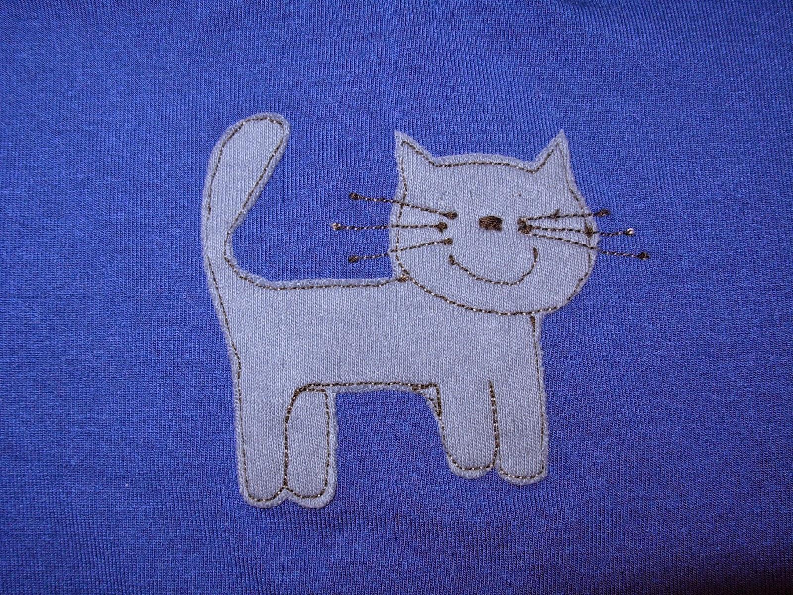 aufgenähte Katze