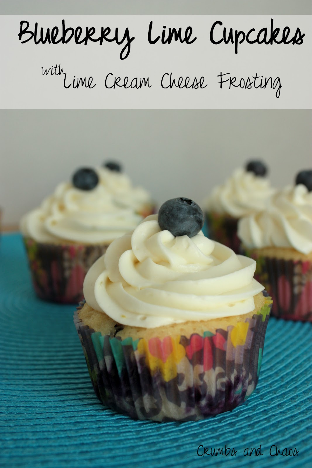 Blueberry Lime Cupcakes with Lime Cream Cheese Frosting - Crumbs and ...