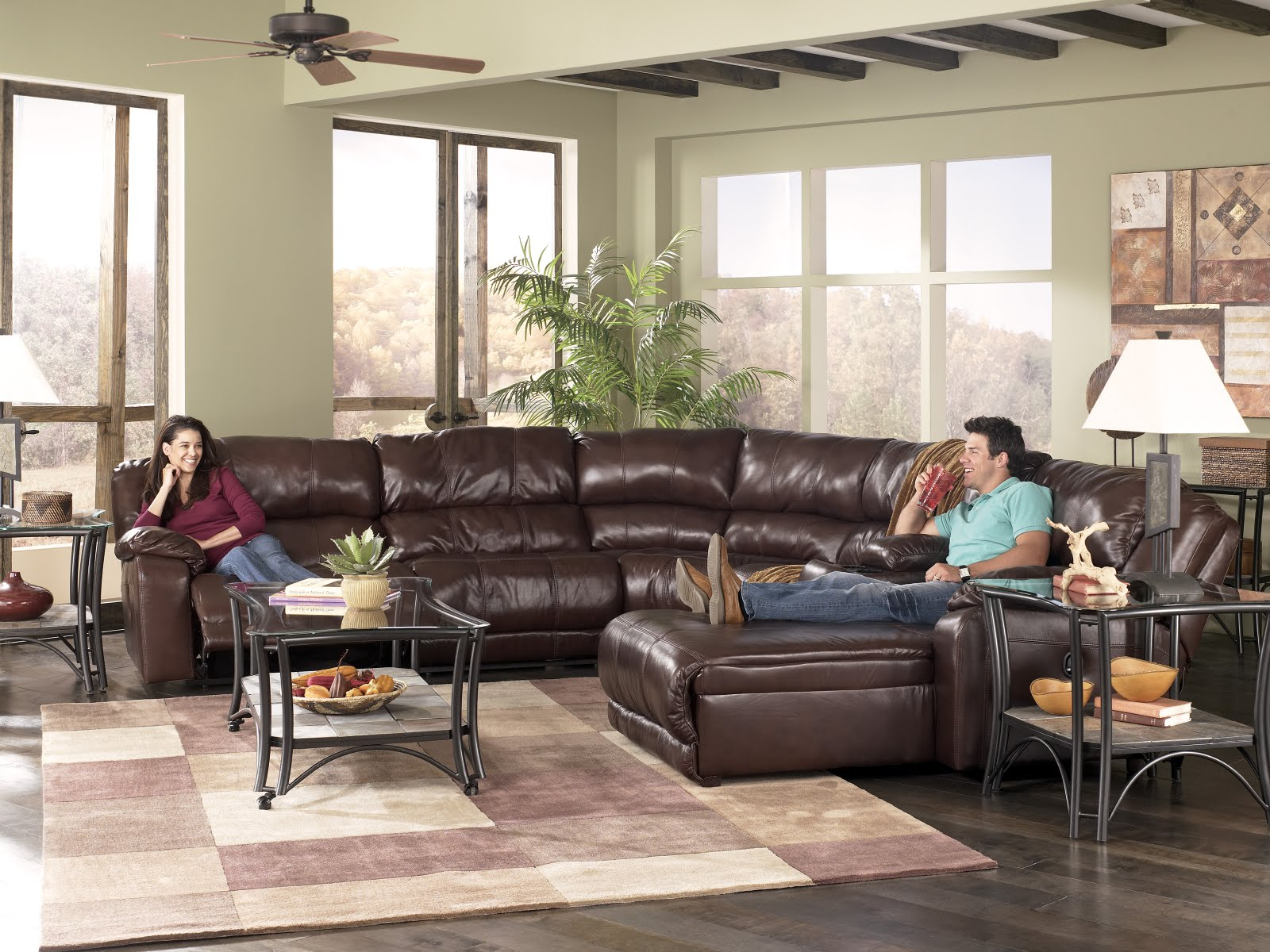 the furniture review our top 5 ashley furniture leather sectionals
