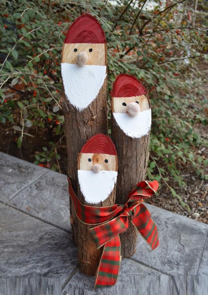 DIY, Papa Noel con Troncos