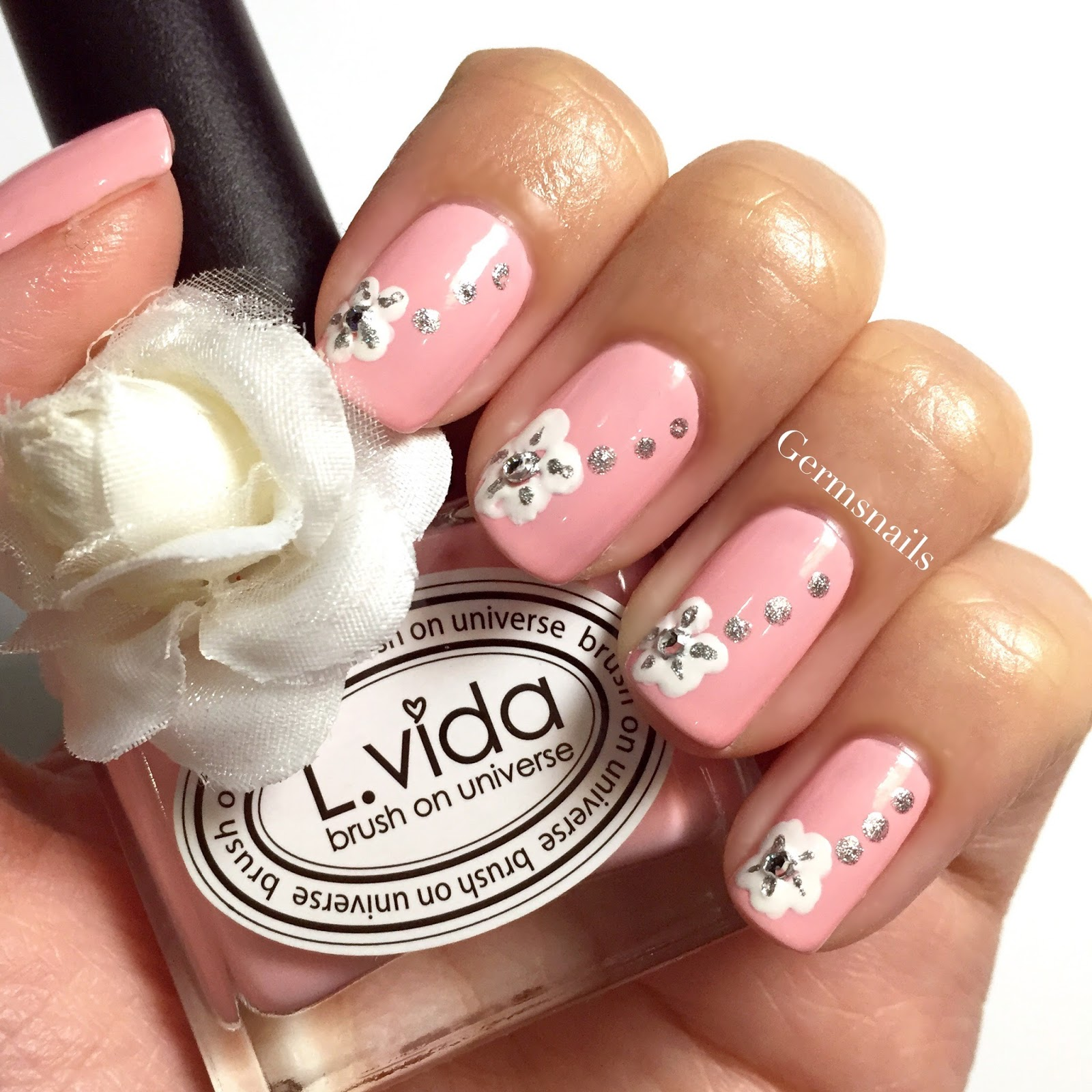 Nail art designs using gems spectacular d nail designs other image of nail art designs using gems prinsesfo Gallery