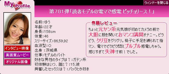 Pacific Girls No.781 Yuu 12090
