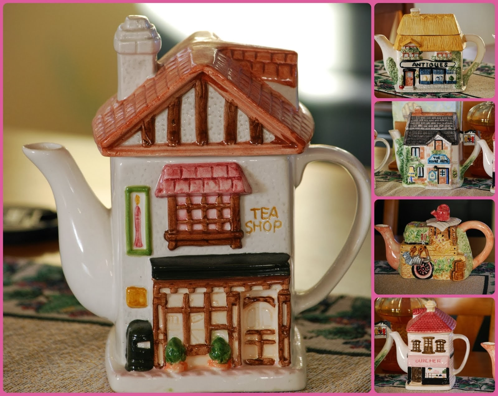 ENGLISH COTTAGE TEA POTS