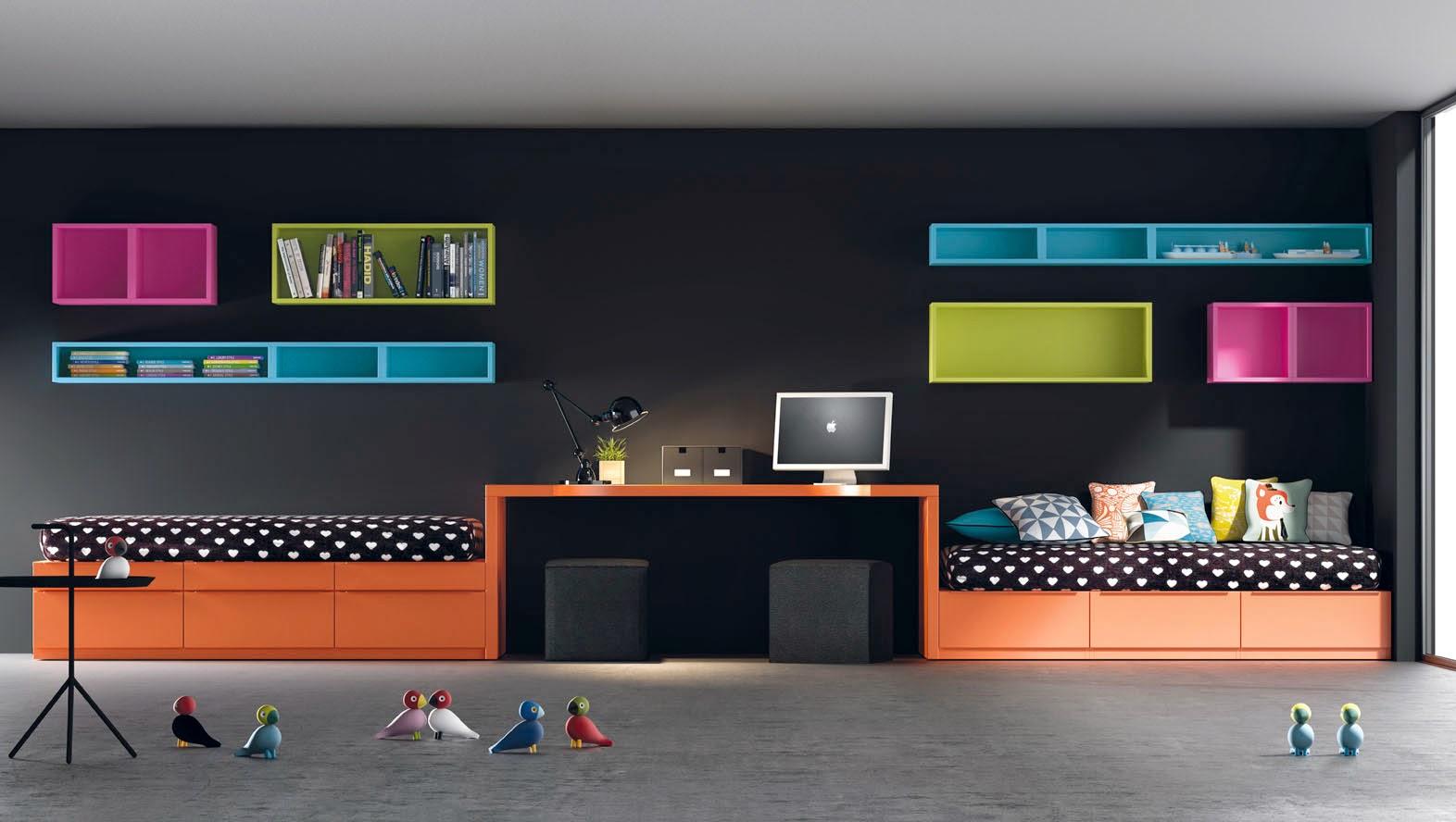 Las literas fijas son la opci n preferida de los ni os les - Dormitorios juveniles para dos hermanos ...