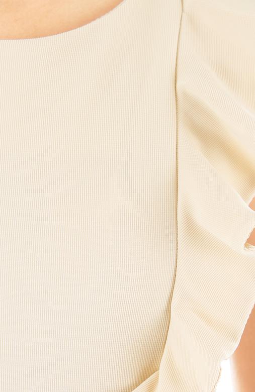 Lady Side Ruffle Peplum Top – Ivory