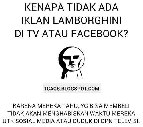 Kenapa Tidak Ada Iklan Lamborghini di TV dan Facebook?