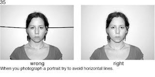 Совет 35. При портретной съемке постарайтесь избежать горизонтальных линий, которые проходят через весь кадр, а особенно через голову снимаемого.