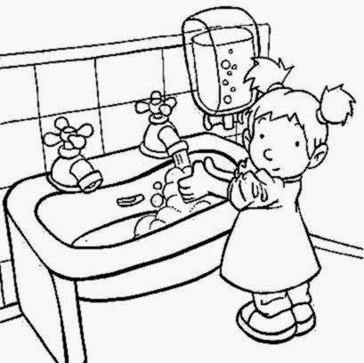 coloring pages hand washing coloring pages printable