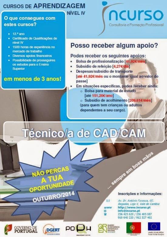 Curso remunerado de Técnico de CAD / CAM – Vale de Cambra