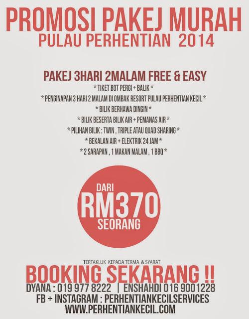 promosi pakej murah pulau perhentian 2014