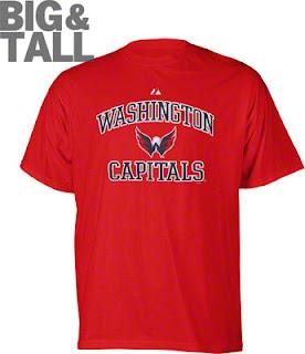 Big and Tall Washington Capitals Team Pride Tee Shirt