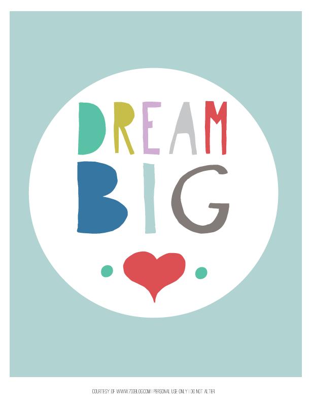 17 dream big 18 alphabet poster free animal nursery printables - Free Printables For Children