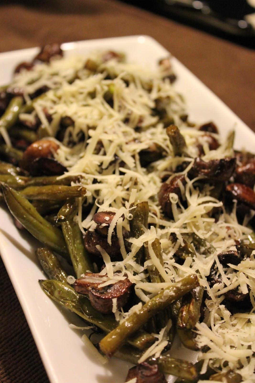 menuinseason: Roasted Green Beans with Mushrooms, Balsamic ...