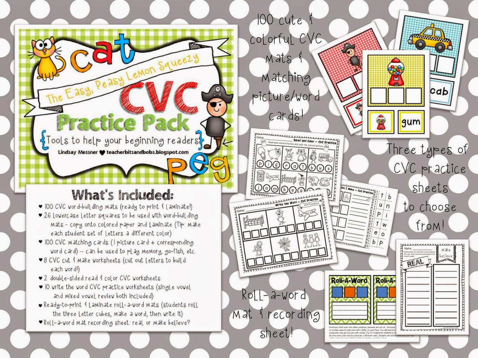 https://www.teacherspayteachers.com/Product/Easy-Peasy-Lemon-Squeezy-CVC-Practice-Pack-781876