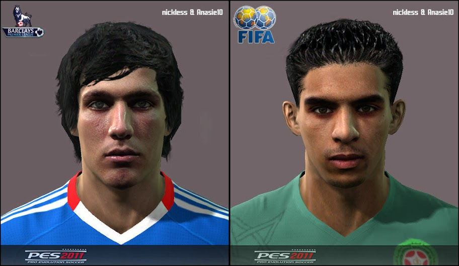 Jack Cork & Mbark Boussoufa Faces by Anasie10 & nickless