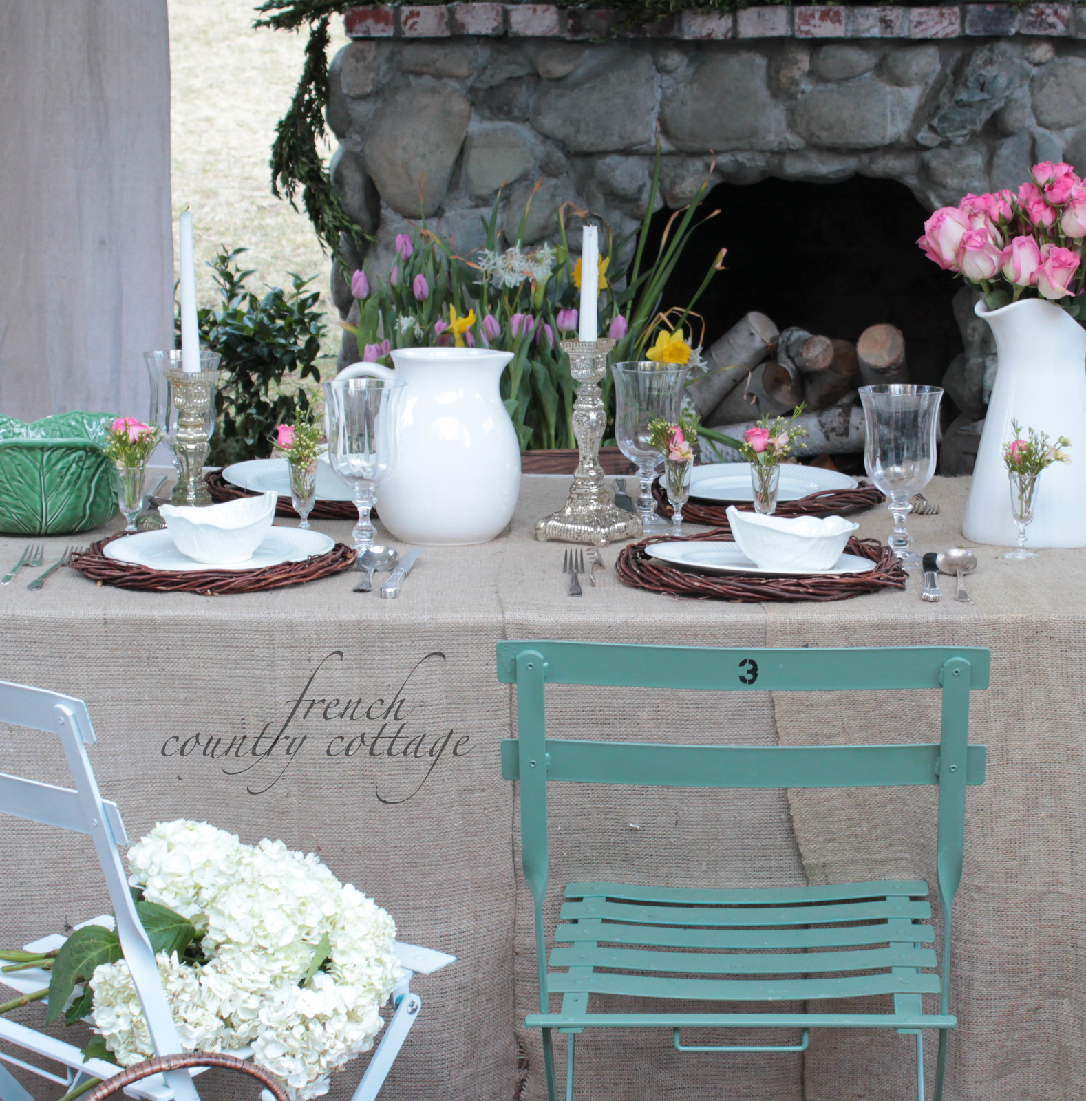 Outdoor Living~ Spring Table