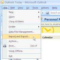 How to Import and Export .PST file in Microsoft Outlook 2007