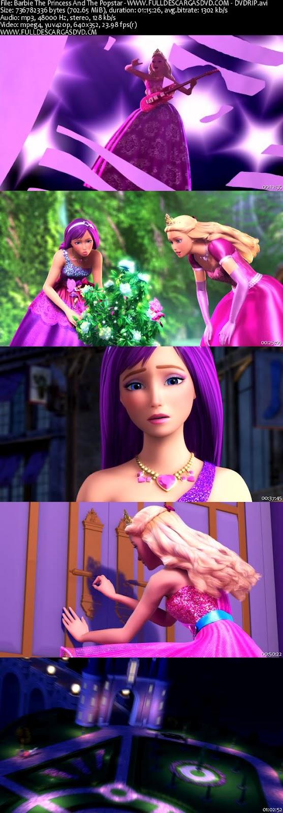 Descargar Barbie: La Princesa Y La Estrella Pop DVDRip Español Latino