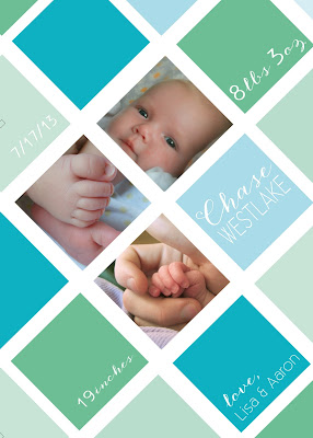 bonhomieDESIGN custom collage baby announcement