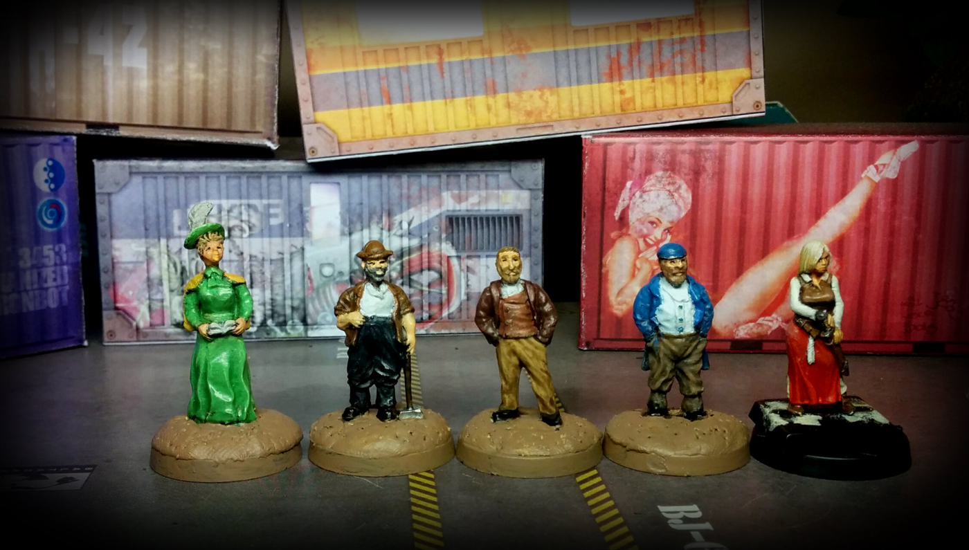 CP Models - Lady, Labourer with hammer, Gent, Labourer, Hasslefree miniatures - Alicia